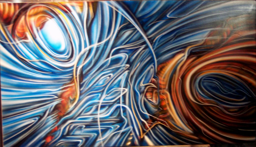 Stylized Impact Airbrush Art