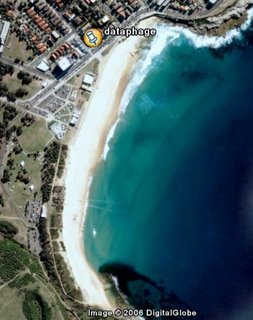 Maroubra bay from above