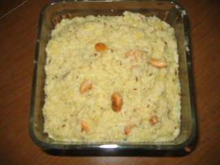 Combination of rice and lentil with spices and ghee