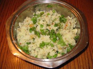 Potato podimas is a side dish with potato and coconut