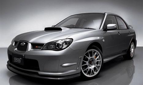 Subaru impreza sti type ra lightweight model version 6 limited.