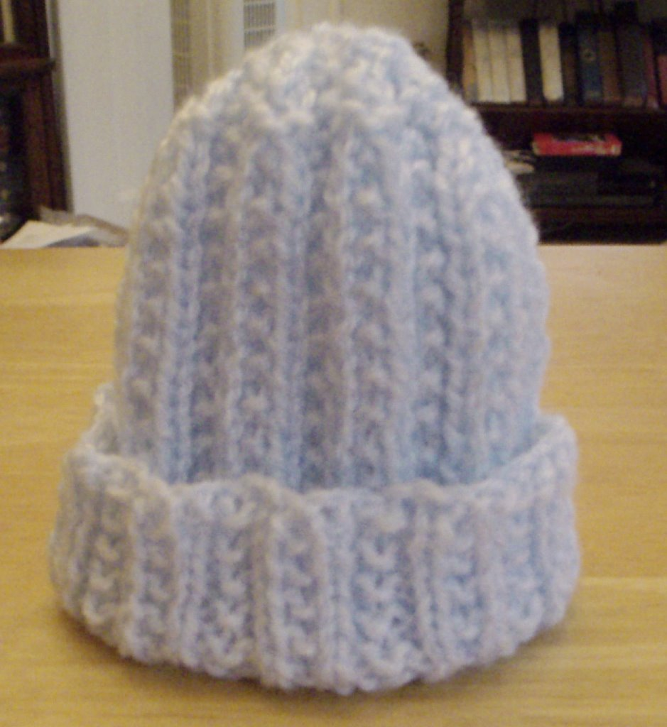 c664a3645d6 By Hook or Needles  Knitted Preemie Baby Hat