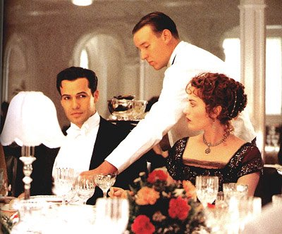 Titanic: Dinner scene- Jack meets Roses' relatives