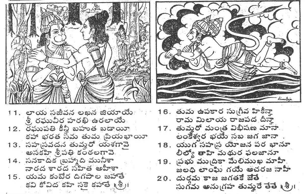 Mandalika's scratchpad: Hanuman Chalisa in Telugu script