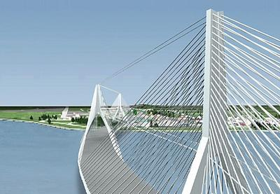 New Peace Bridge into Fort Erie