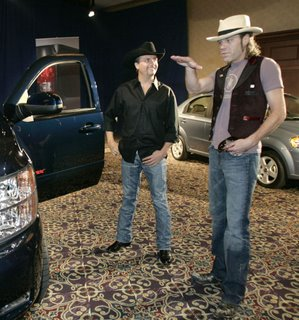 New Silverado with country group Big and Rich