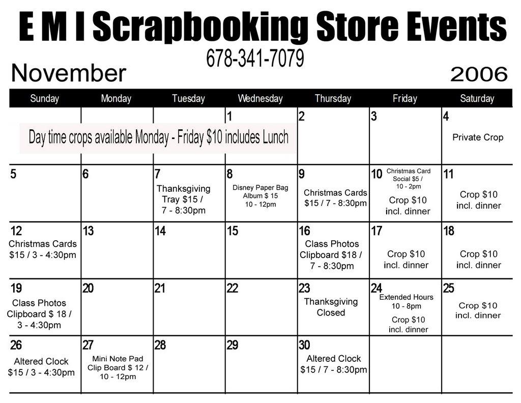 Emi Scrapbooking Store November 2006