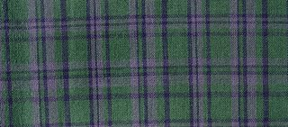 Green Plaid, Boston commons quilt, fabric selection, photo by Robin Atkins, bead artist