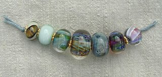 lampwork beads by Nicole LeClaire Brown