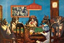 Yujuuuuuu Cuadros De Perros Jugando Billar Y Poker