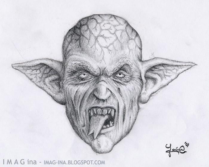 Dibujos De Gargolas A Lapiz Imagui