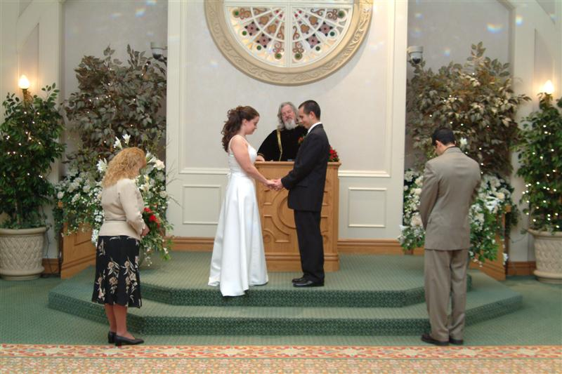 The Canterbury Wedding Chapel Excalibur Hotel Decamber 31 2005