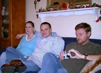 Joanne, Sean and Rodney - Christmas 2005