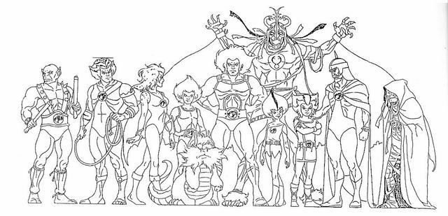 La nuez el arte de las hojas modelo models sheets for Coloring pages thundercats