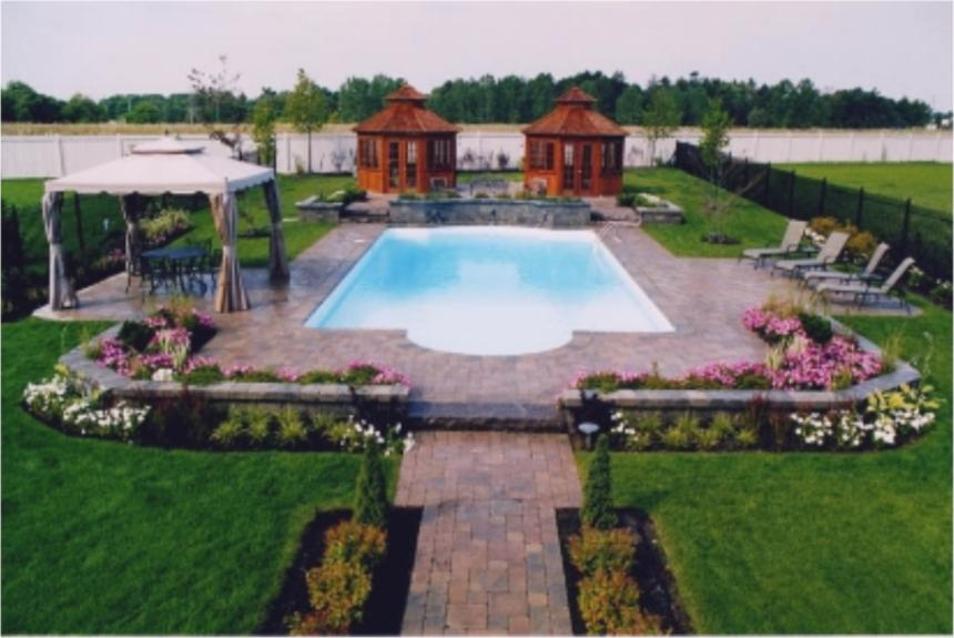 Landscaping Ideas Around Pool | small front yard landscape ideas