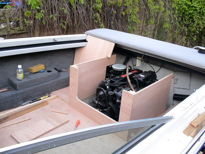 Bowrider Blog: Building the engine box, back seats and frame...
