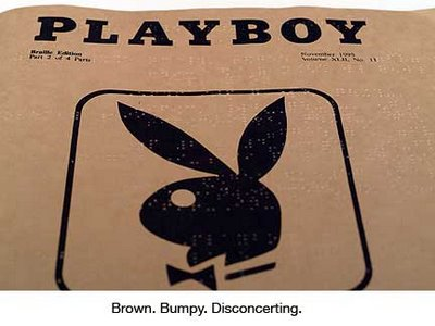Revista PLayboy em Braille