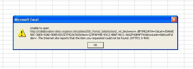 Robin's Sharepoint Blog: Survey export to excel problems