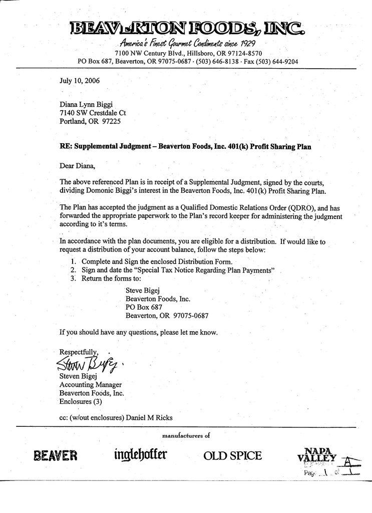 2 Financial Hardship Letter