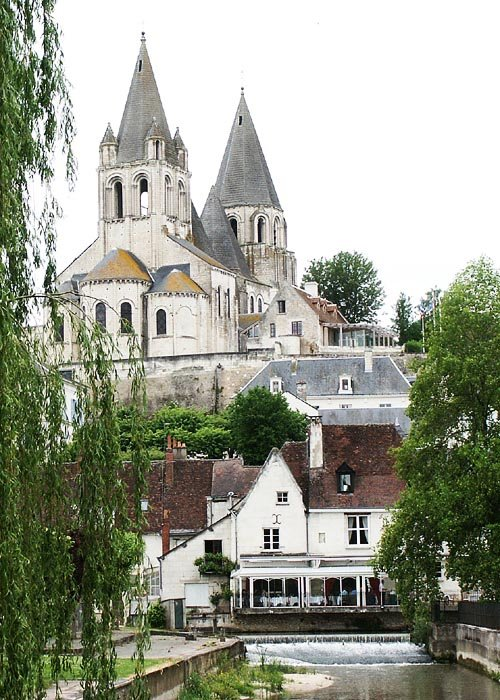 Saint Ours church, Loches.  Indre et Loire, France. Photographed by Susan Walter. Tour the Loire Valley with a classic car and a private guide.