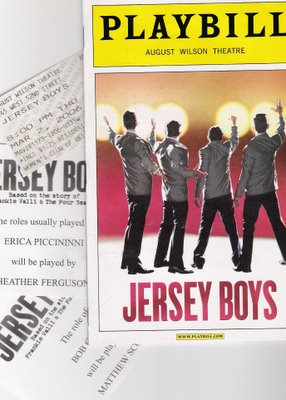 Jersey Boys collage Copyright © 2006 by Anthony Buccino, all rights reserved.