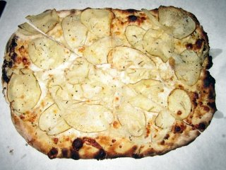 potato and mozzarella pizza: Sally's Apizza