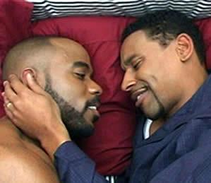 Ebony gay kissing