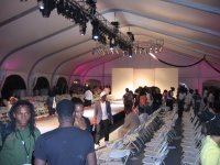 The tent at Brooklyn Fashion Week(end)