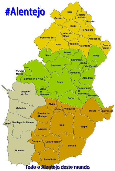mapa alentejo Blog do #Alentejo na PT rede de IRC Portuguesa mapa alentejo