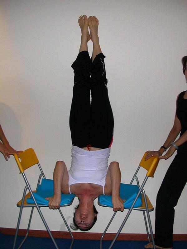 The Show Me Yoga Center Student Spot Upside Down Yoga