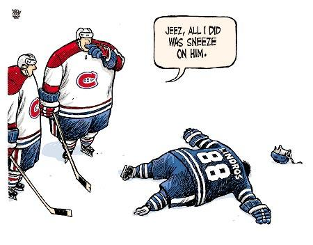 The Nhl Is Back Lindros Cartoon