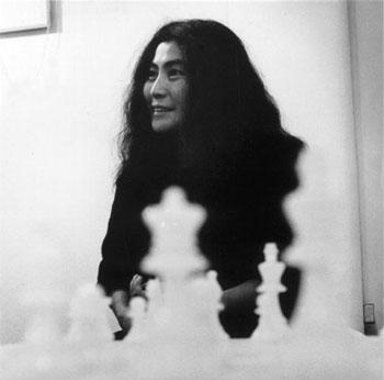 Yoko Ono play the game