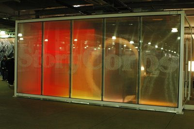 A photo of the StoryCorps booth in the PATH station at the World Trade Center.