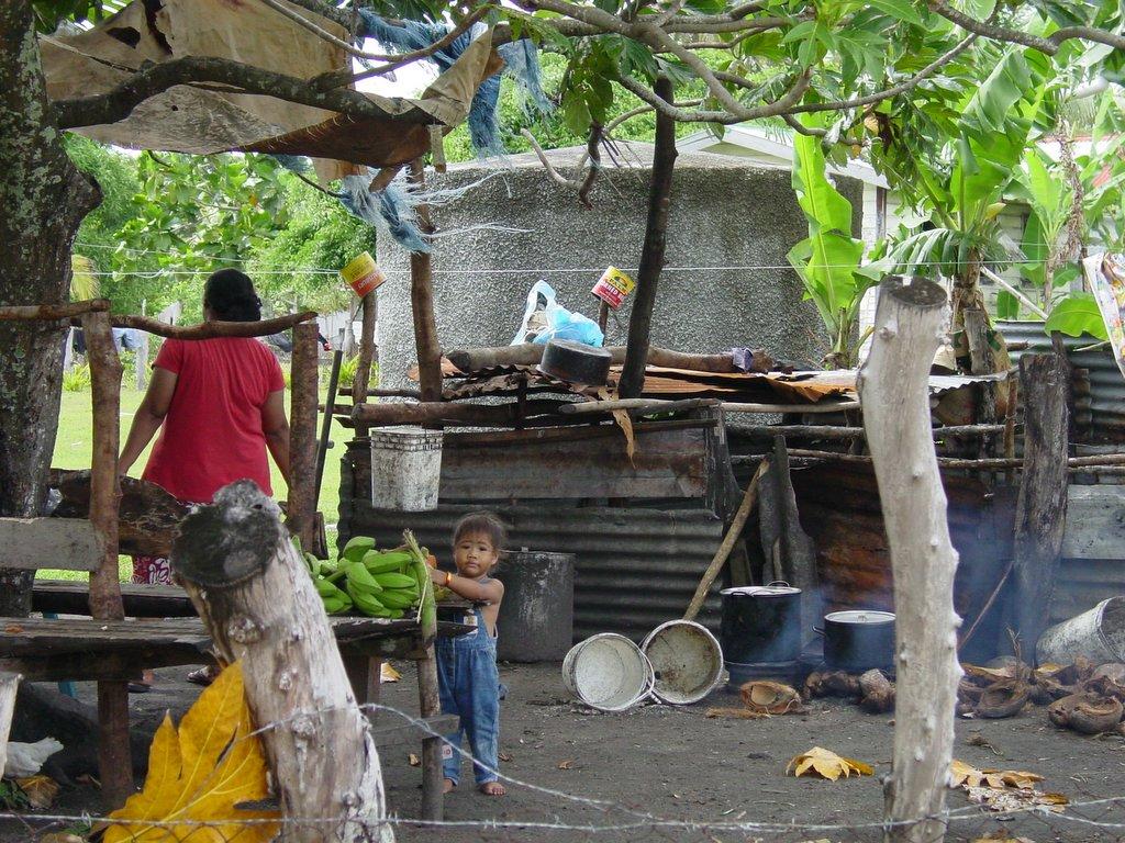 Traditional Tongan Outdoor Kitchen