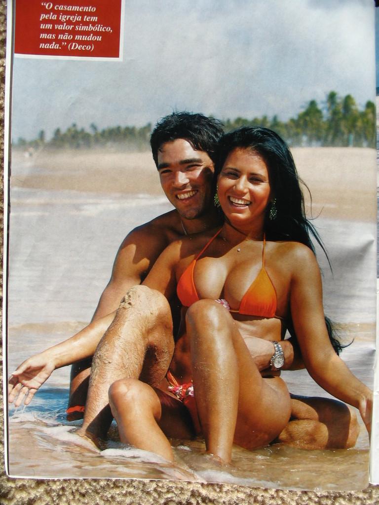 Deco And Brazillian Wife Jaciara taking wedding after ...