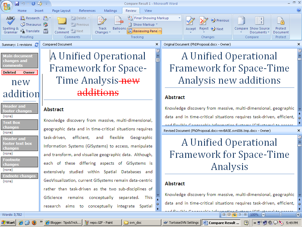 Tips&Trick: Word Document management using SVN