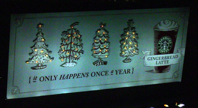 Starbucks S Christmas Billboard Awesome Billboards And