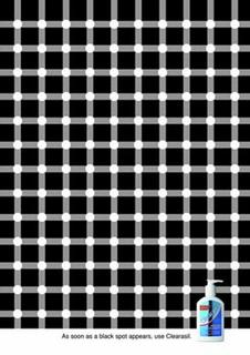 optical illusion dots clearasil