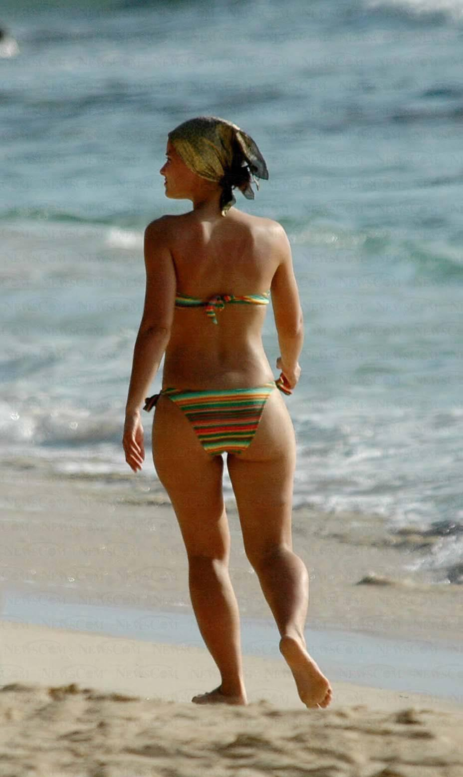 image Candid beach bikini ass butt west michigan booty red 10