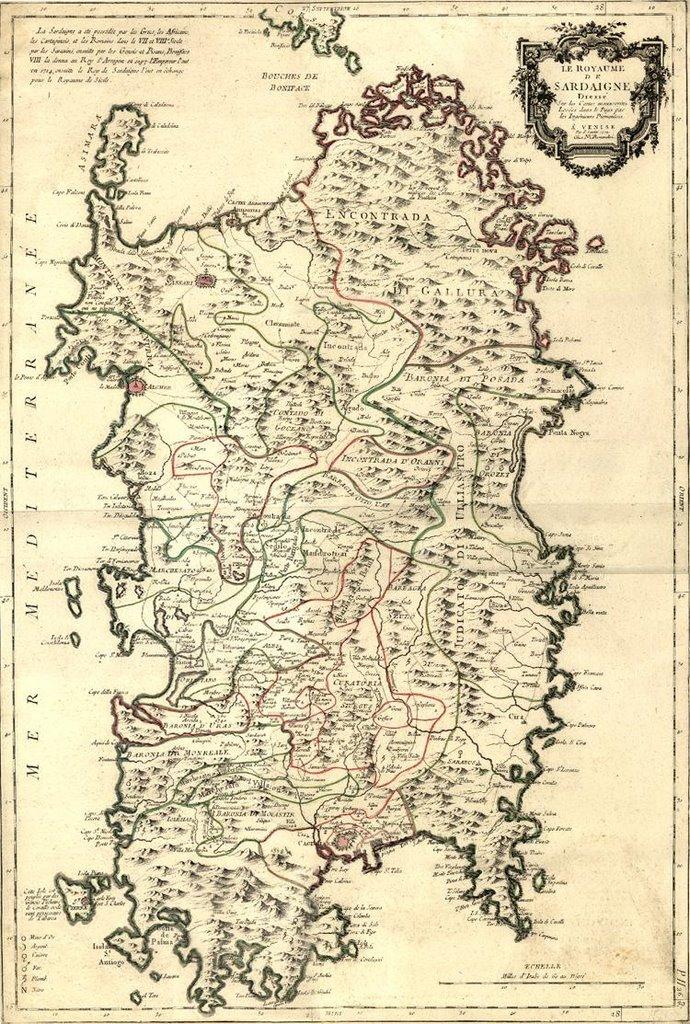 Immagini Della Cartina Geografica Della Sardegna.Made In Sardegna