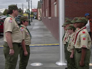 military boy scouts at the alameda free library