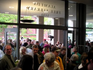 alameda free library opening crowds