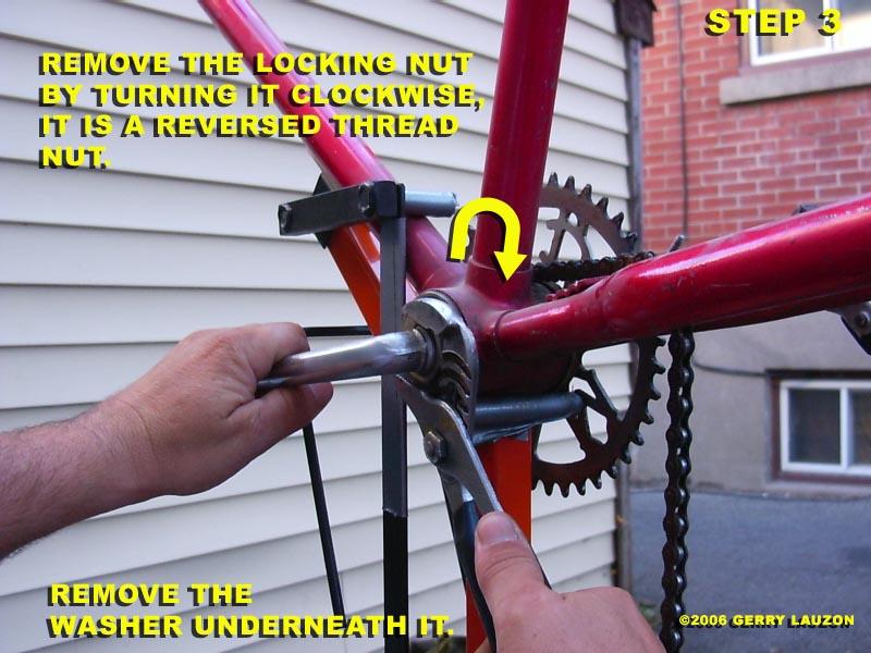 Mountain bike bottom bracket removal