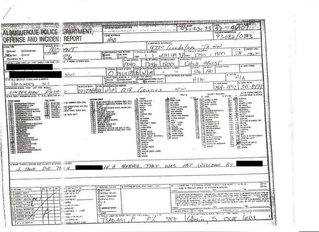 albloggerque   u0026quot lost u0026quot  police incident report   is this what