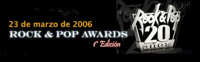 Rock & Pop Awards 1º Edición
