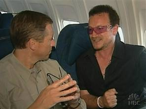 Bono con Brian Williams de la NBC