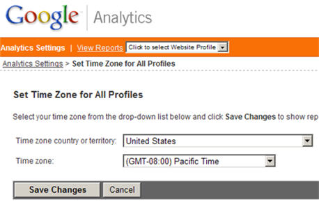 Google Analytics: View reports in your local time zone