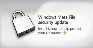 Download the Official Microsoft patch for WMF flaw