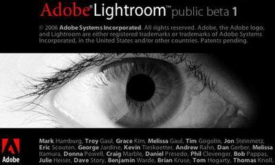 Adobe Lightroom Splash Screen