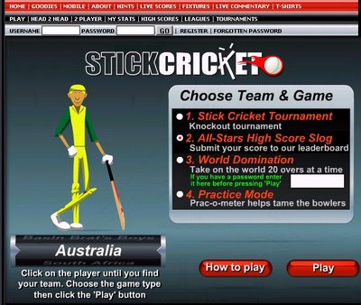 Welcome to Stick Cricket!